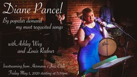 Diane Pancel @ Hermann's Jazz Club May 1 2020 - May 30th @ Hermann's Jazz Club