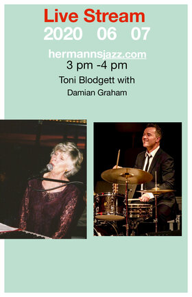 Toni Blodgett & Damian Graham @ Hermann's Jazz Club Jun 7 2020 - Aug 10th @ Hermann's Jazz Club