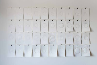 Marked Moments (installation) by  Oona McClure