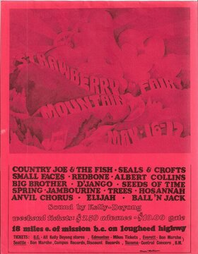 Stawberry Mountain Fair: Anvil Chorus, Seeds Of Time, Jambourine, Redbone, Albert Collins, Big Brother, D'jango @ Lougheed Highway May 16 1970 - Sep 27th @ Lougheed Highway