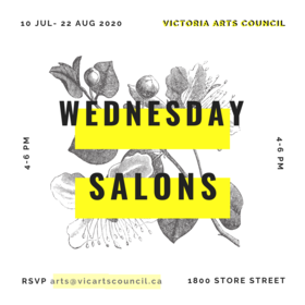 Salon Series @ Victoria Arts Council Aug 19 2020 - Jul 15th @ Victoria Arts Council