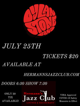 Dylan Stone @ Hermann's Jazz Club Jul 25 2020 - Aug 10th @ Hermann's Jazz Club