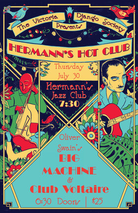 Hermann's Hot Club featuring Club Voltaire with Special Guests Oliver Swain's BIG MACHINE @ Hermann's Jazz Club Jul 30 2020 - Aug 10th @ Hermann's Jazz Club