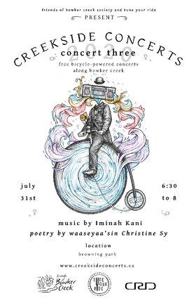 Creekside Concert #3: Iminah Kani @ Browning Park Jul 31 2020 - Sep 19th @ Browning Park