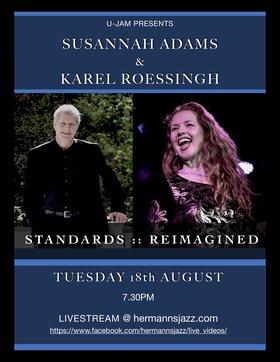 UJAM Presents: Susannah Adams & Karel Roessingh Reimagine the Standards @ Hermann's Jazz Club Aug 18 2020 - Oct 25th @ Hermann's Jazz Club