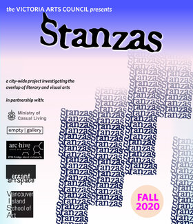 STANZAS (concrete is porous/NISHGA/In a New Order): Christine Walde, Bill Bisset, Aram Soryan, Jordan Abel, Paul Dutton, bpNichol, Michael Morris @ Victoria Arts Council Sep 4 2020 - Oct 20th @ Victoria Arts Council
