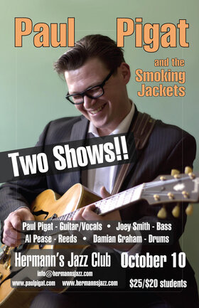 Paul Pigat & The Smoking Jackets @ Hermann's Jazz Club Oct 10 2020 - Oct 25th @ Hermann's Jazz Club