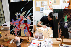 Mix Media and Acrylic Portrait Workshop: Laura Bonnie @ North Park Art Studio Oct 27 2020 - Oct 25th @ North Park Art Studio