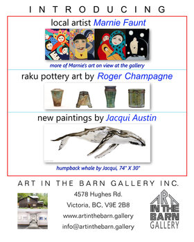 October New Art Show: jacqui austin, Gabriel Taschereau, Lenaya Chrystall, Marnie Faunt, Roger Champagne, Joy Finlay, Minette Erlank @ Art In The Barn Gallery Oct 3 2020 - Mar 7th @ Art In The Barn Gallery