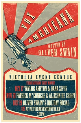 Vox Americana with Patrick M. Gonigle & Allison DeGroot: Oliver Swain @ Victoria Event Centre Nov 21 2020 - Jan 21st @ Victoria Event Centre