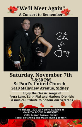 We'll Meet Again: Edie DaPonte, Joey Smith @ St Paul's United Church Nov 7 2020 - May 6th @ St Paul's United Church