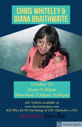 Diana Braithwaite & Chris Whiteley @ Hermann's Jazz Club Oct 24 2020 - Oct 18th @ Hermann's Jazz Club