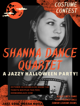 Shanna Dance Quartet @ Hermann's Jazz Club Oct 30 2020 - Oct 25th @ Hermann's Jazz Club
