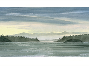 Approaching Swartz Bay by  Victor J. Crapnell