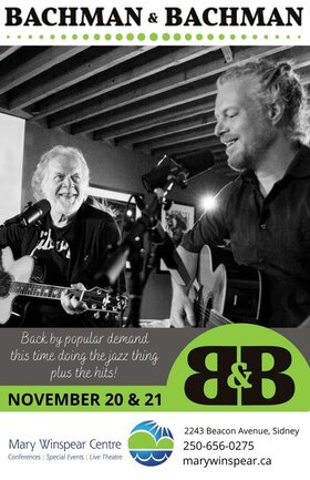 Bachman & Bachman: Randy Bachman, Tal Bachman @ The Mary Winspear Centre Nov 20 2020 - Apr 17th @ The Mary Winspear Centre