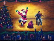 Jiggling Jiggin\' Santa by  Ed Peekeekoot