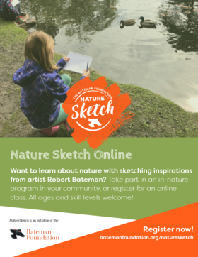 Study the changing seasons through sketching or watercolour with Nature Sketch Program: Val Lawton, Jen Burgess @ Online Jan 8 2021 - Feb 25th @ Online