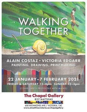 'Walking Together': Alain Costaz, Victoria Edgarr @ The Chapel Gallery Feb 7 2021 - Jan 17th @ The Chapel Gallery