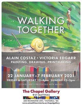 'Walking Together': Alain Costaz, Victoria Edgarr @ The Chapel Gallery Feb 7 2021 - Jan 27th @ The Chapel Gallery