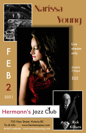 The Narissa Young Trio @ Hermann's Jazz Club Feb 2 2021 - Feb 25th @ Hermann's Jazz Club