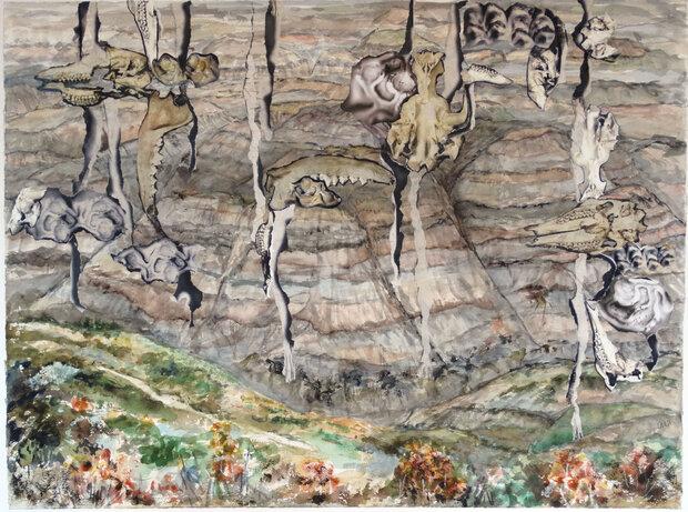 Badlands by  Arlene Nesbitt