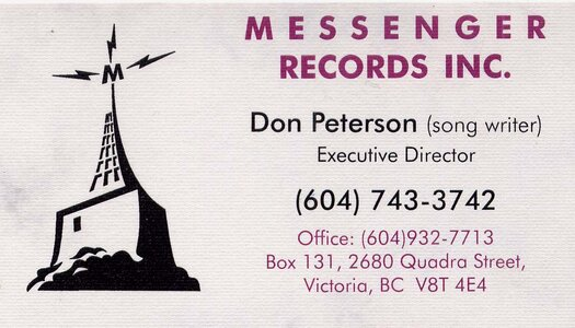Photo- Don Peterson Messenger Records Inc. Bc  -   Don Peterson