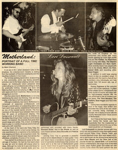 Photo- Motherland Article Cosmic Debris August 1998 Page 1  -   Don Peterson