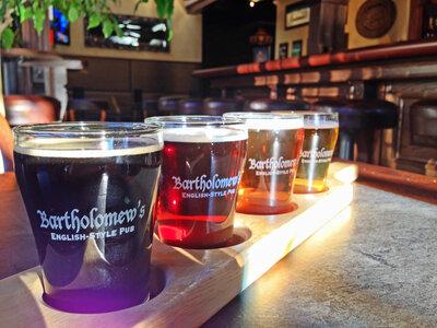 Photo- Bart\'s Flights - Sampler of 4 Local Craft Beer  -   Bartholomews Pub