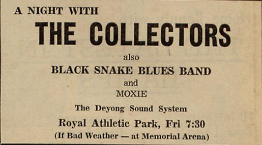 Photo- Collectors Ad RAP July 25, 1969  -   Royal Athletic Park