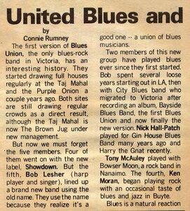 Photo- Blues Unionarticle06061973  -   Blues Union