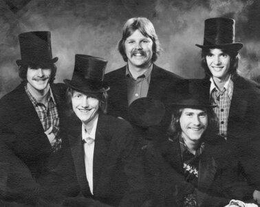 Photo- 1973 Left to right Norm Piercy, The Late Darryl Kittlitz RIP, Hank Lionhart, John Herlihy and Bobby Titrun credit Hank Lionhart  -   Coloured Rain