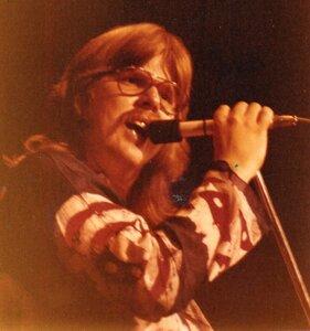 Photo- Singer hank Leonhardt at the Stock Pot in Kelowna 1973  -   Coloured Rain