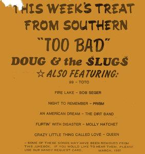 Photo- CO-OP Radio handbill  -   Doug & The Slugs
