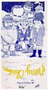Photo- Christmas card 1980\'s  -   Doug & The Slugs
