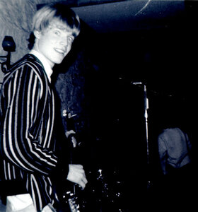 Photo- Reid Hudson circa 1966 playing with Don Crawford and The Right People at the Club A GoGo on Wharf Street  -   Club A GoGo  - Photo Credit:  Diana Lokken