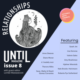 UNTIL magazine / issue 8: Relationships @ Victoria Arts Council Feb 5 2021 - Apr 19th @ Victoria Arts Council