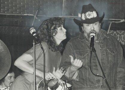 Photo- BJ Cook and Ronnie Hawkins circa 1981  -   B J Cook