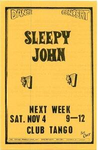 Photo- Sleepy John Pstr2front  -   Sleepy John