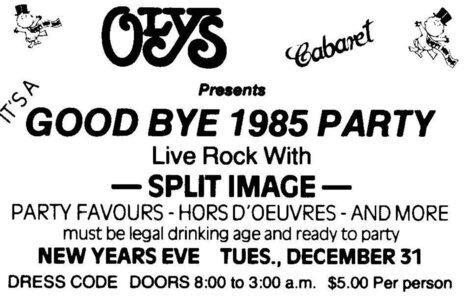 Photo- Olysnewyears1985  -   Olys Cabaret