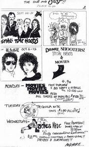 Photo- Oly Rocker Pg2 September October 1986  -   Olys Cabaret