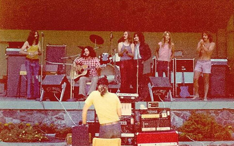 Photo- Sugar Cane Beacon Hill Park Bandstand 1972  -   Stage in the Park (Cameron Bandshell)