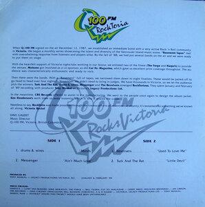 Photo- Rocktoria 1 Album Bk Cvr 1989  -   Messenger