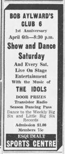 Photo- Victoria Daily Times April 5,1963 credit Janice Mason  -   Club 6