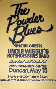 Photo- Unclewigglywithpowderbluespstr  -   Uncle Wigglys Hot Shoes Blues Band