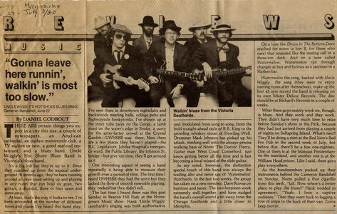 Photo- Wigglyarticle1  -   Uncle Wigglys Hot Shoes Blues Band