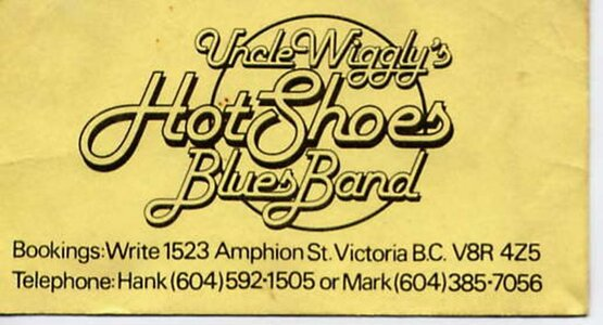 Photo- Wigglybuscrd  -   Uncle Wigglys Hot Shoes Blues Band