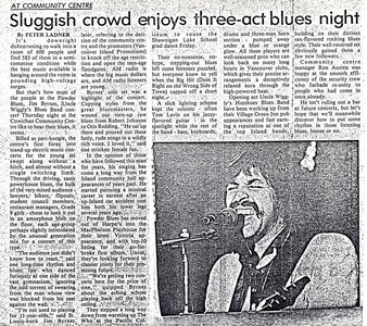 Photo- UWarticle Cowichan Leader  -   Uncle Wigglys Hot Shoes Blues Band