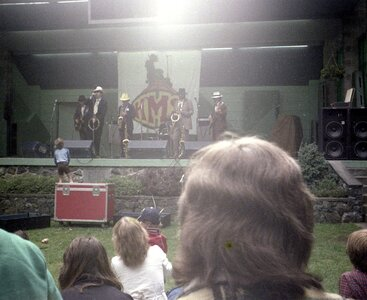 Photo- Cameron Band shell Beacon Hill Park April 1980  -   Uncle Wigglys Hot Shoes Blues Band  - Photo Credit:  Robert Newell