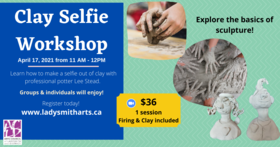 Create Your Own Clay Selfie @ On Zoom Apr 17 2021 - Apr 13th @ On Zoom