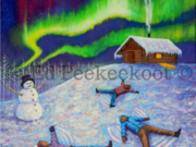 Dance of the Northern Lights by  Ed Peekeekoot